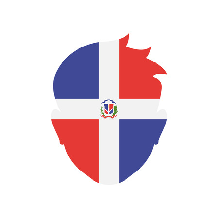 Dominican republic icon vector isolated on white background for your web and mobile app design, Dominican republic logo concept Illustration