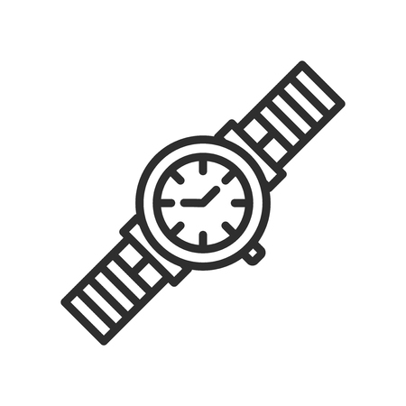 Classic Wristwatch icon vector isolated on white background for your web and mobile app design, Classic Wristwatch logo concept