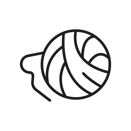 Ball of wool icon vector isolated on white background for your web and mobile app design Ilustração