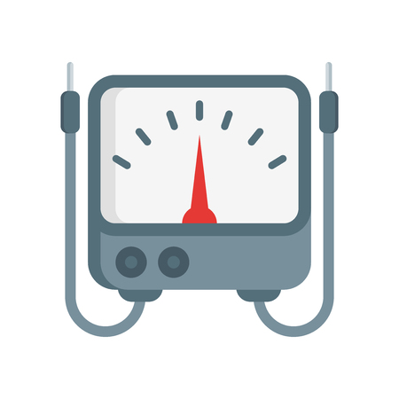 Voltmeter icon vector isolated on white background for your web and mobile app design