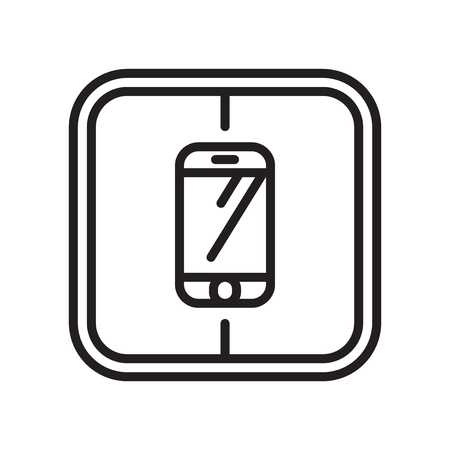 Smarthphone icon vector isolated on white background for your web and mobile app design Vectores