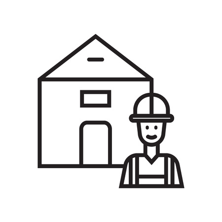 Builder icon vector isolated on white background for your web and mobile app design