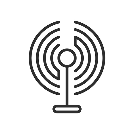 Wireless Internet Connection icon vector isolated on white background for your web and mobile app design Illustration