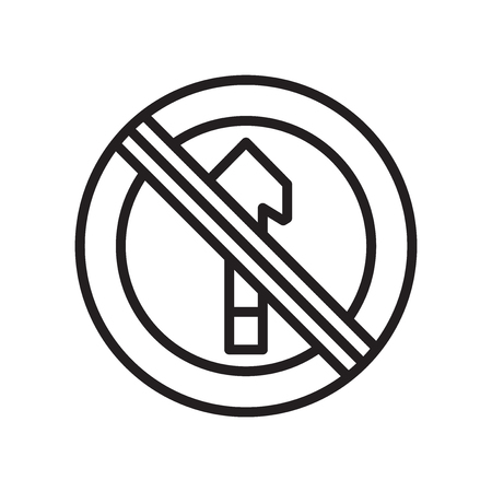 No entry icon vector isolated on white background for your web and mobile app design