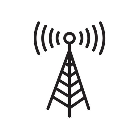 Vecteur d'icône de tour de transmission isolé sur fond blanc pour la conception de votre application web et mobile