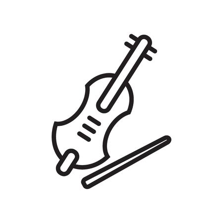 Vecteur d'icône violon isolé sur fond blanc pour la conception de votre application web et mobile