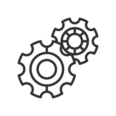 Settings Cog icon vector isolated on white background for your web and mobile app design