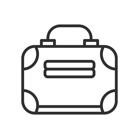 Business Briefcase icon vector isolated on white background for your web and mobile app design