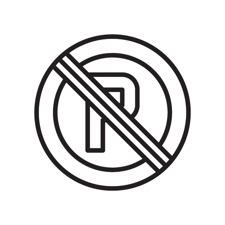 No parking icon vector isolated on white background for your web and mobile app design