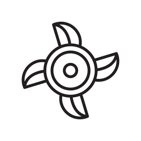 Ventilating Fan icon vector isolated on white background for your web and mobile app design Vetores