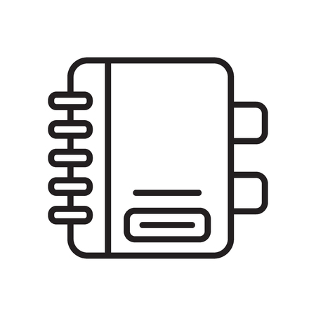 Vector icono de agenda aislado sobre fondo blanco para su diseño web y aplicaciones móviles Ilustración de vector