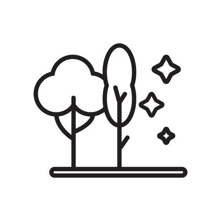 Forest icon vector isolated on white background for your web and mobile app design Illusztráció