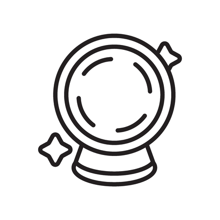 Crystal ball icon vector isolated on white background for your web and mobile app design  イラスト・ベクター素材