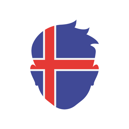 Iceland icon vector isolated on white background for your web and mobile app design
