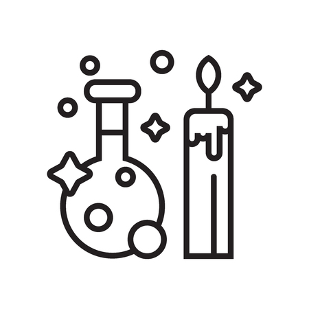 Potion icon vector isolated on white background for your web and mobile app design  イラスト・ベクター素材