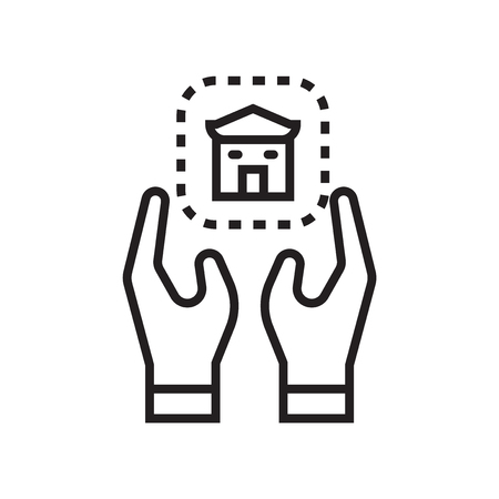 House icon vector isolated on white background for your web and mobile app design
