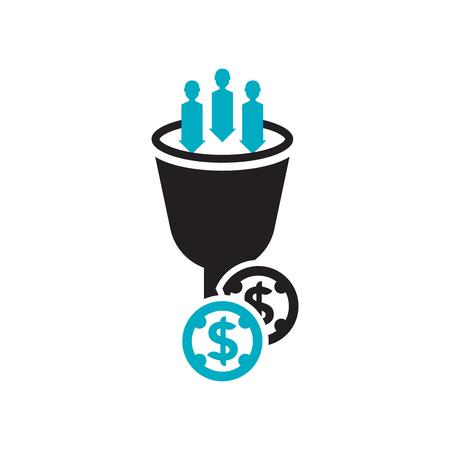Lead-Conversion-Icon-Vektor isoliert auf weißem Hintergrund für Ihr Web- und Mobile-App-Design, Lead-Conversion-Logo-Konzept Logo