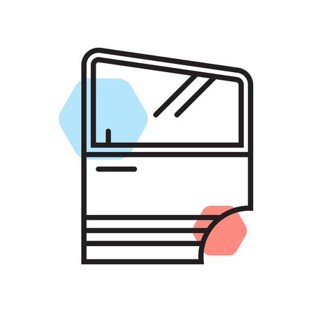 Porta auto icona vettoriale isolato su sfondo bianco per il vostro web e progettazione mobile app, concetto di marchio di porta auto Vettoriali