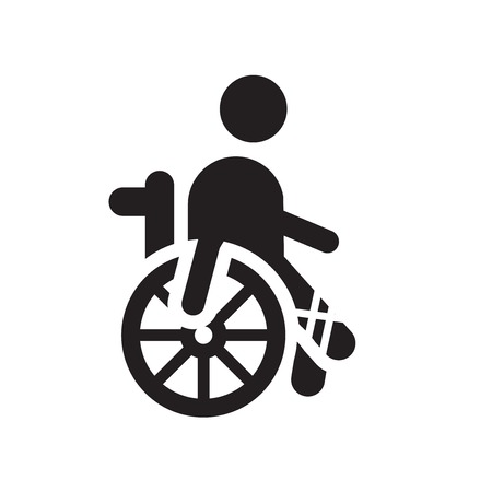 Disabled icon vector isolated on white background for your web and mobile app design, Disabled logo concept