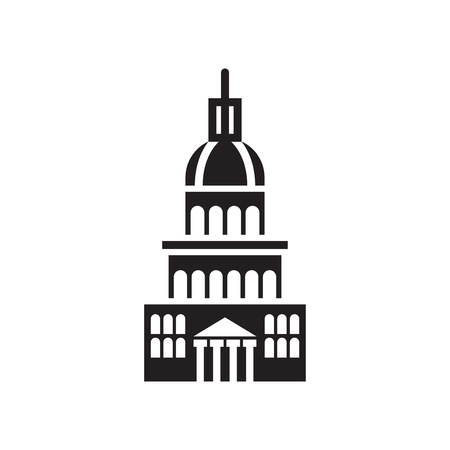 Capitol icon vector isolated on white background for your web and mobile app design, Capitol logo concept Vettoriali