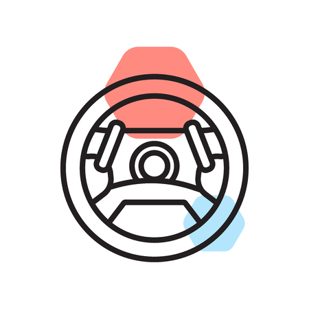 Steering wheel icon vector isolated on white background for your web and mobile app design, Steering wheel logo concept