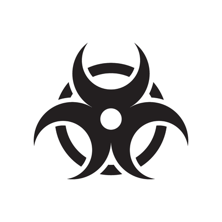 Biohazard icon vector isolated on white background for your web and mobile app design, Biohazard logo concept