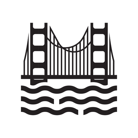 Golden state icon vector isolated on white background for your web and mobile app design, Golden state logo concept