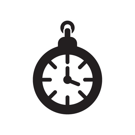 Clock pointing four oclock icon vector isolated on white background for your web and mobile app design, Clock pointing four oclock logo concept