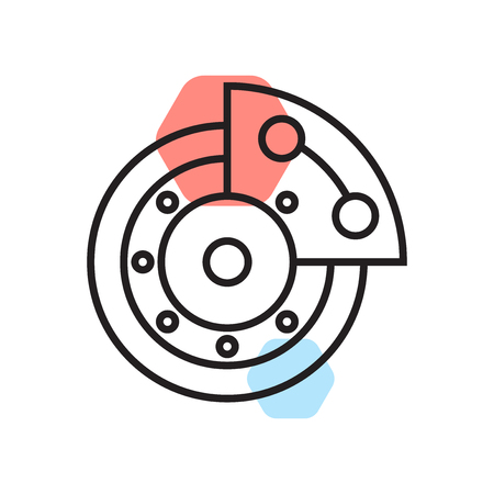 Brake icon vector isolated on white background for your web and mobile app design, Brake logo concept