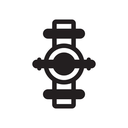 Pipes icon vector isolated on white background for your web and mobile app design, Pipes logo concept  イラスト・ベクター素材