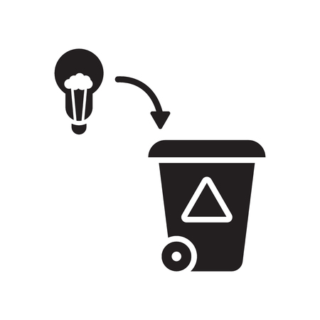 Bad Idea icon vector isolated on white background for your web and mobile app design, Bad Idea logo concept