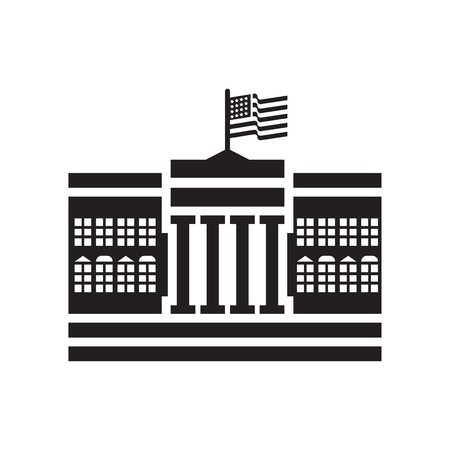 White house icon vector isolated on white background for your web and mobile app design, White house logo concept Logos