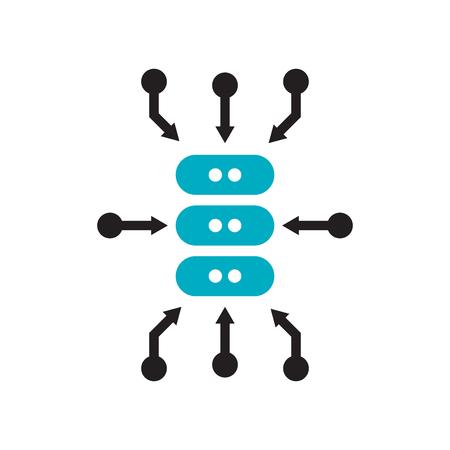 Vector icono de agregación de datos aislado sobre fondo blanco para su diseño web y aplicaciones móviles, concepto de logotipo de agregación de datos