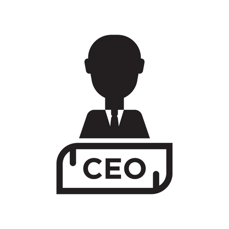 Chief Executive Officer icon vector isolated on white background for your web and mobile app design, Chief Executive Officer logo concept