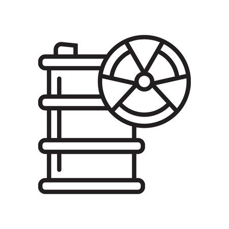 Hazardous icon vector isolated on white background for your web and mobile app design, Hazardous logo concept