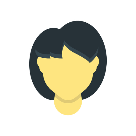 Woman hair icon vector isolated on white background for your web and mobile app design, Woman hair logo concept