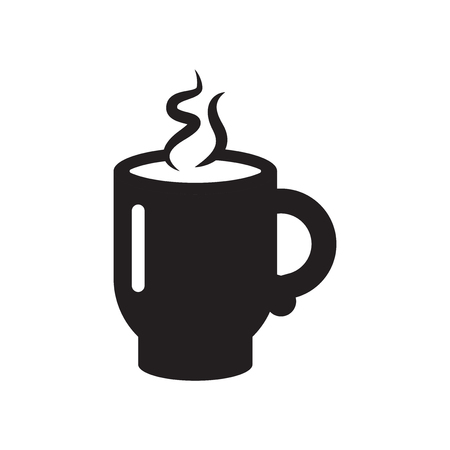 Hot Cup of Coffee icon vector isolated on white background for your web and mobile app design, Hot Cup of Coffee logo concept