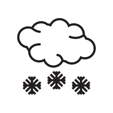 Snow icon vector isolated on white background for your web and mobile app design, Snow logo concept Ilustração