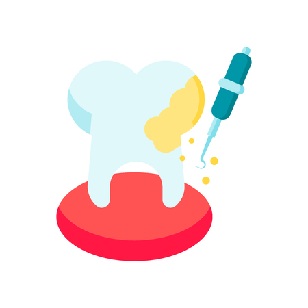 Tooth icon vector isolated on white background for your web and mobile app design, Tooth logo concept  イラスト・ベクター素材