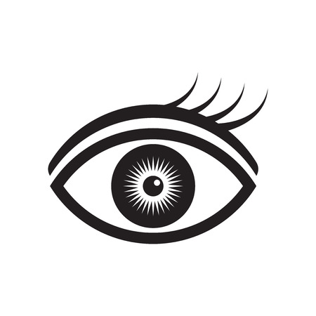Eye icon vector isolated on white background for your web and mobile app design, Eye logo concept