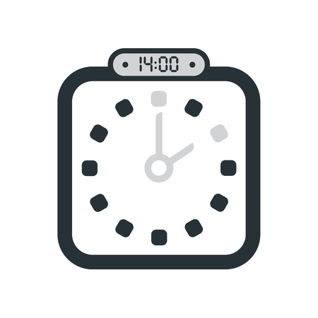 The 14:00, 2pm icon isolated on white background, clock and watch, timer, countdown symbol, stopwatch, digital timer vector icon Vettoriali