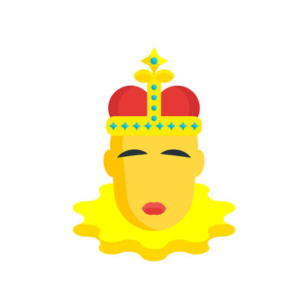 King momo icon vector isolated on white background for your web and mobile app design, King momo logo concept Illustration