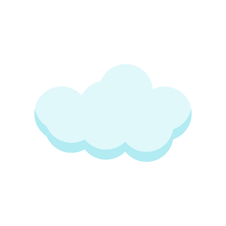 cloude icon vector isolated on white background for your web and mobile app design, cloude logo concept