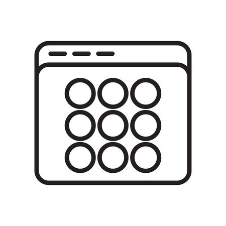 Icona di miniature vettoriale isolato su sfondo bianco per il vostro web e progettazione di app per dispositivi mobili, concetto di marchio di miniature