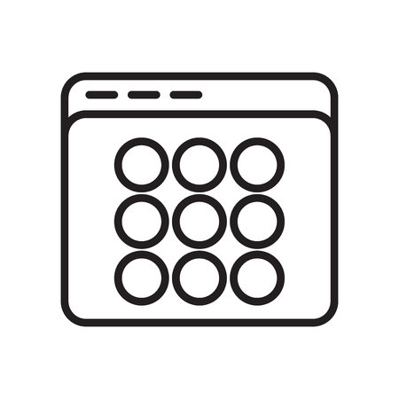 Thumbnails icon vector isolated on white background for your web and mobile app design, Thumbnails logo concept