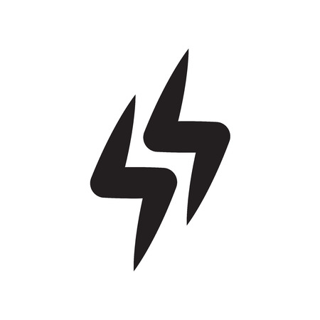 Thunderbolt icon vector isolated on white background for your web and mobile app design, Thunderbolt logo concept
