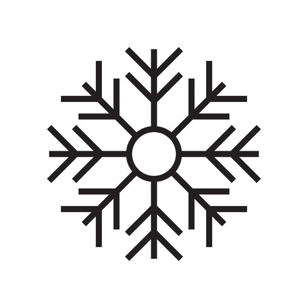 Snowflake icon vector isolated on white background for your web and mobile app design, Snowflake logo concept