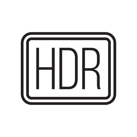 Hdr icon vector isolated on white background for your web and mobile app design, Hdr logo concept 向量圖像