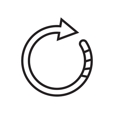 Rotate right icon vector isolated on white background for your web and mobile app design, Rotate right logo concept