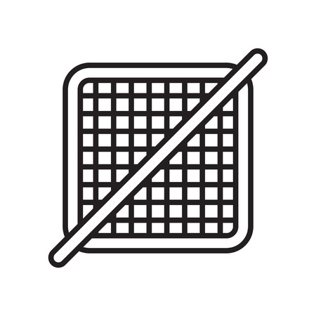 Grid off icon vector isolated on white background for your web and mobile app design, Grid off logo concept